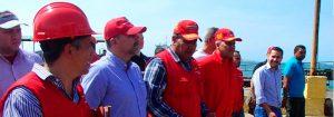 Ministro Molina y Presidente de Bolipuertos inspeccionan Puertos del estado Anzoátegui