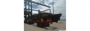 Trigo panadero, maíz blanco y mercancía contenerizada es desembarcada en el Puerto de Puerto Cabello