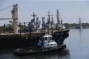 Más de 10 Mil TM de Trigo panadero han sido descargadas de la embarcación KEN GOH